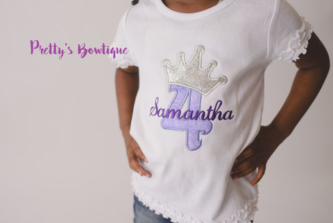 Princess Birthday T-Shirt or Bodysuit--Baby Girl First Birthday Shirt--Frozen Birthday Shirt-- Princess Birthday--Any age--Princess Sofia- - Pretty's Bowtique