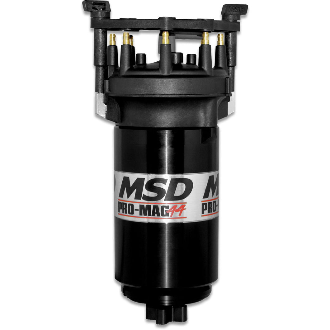 MSD Pro Mag 44 Amp Generator, CCW Rotation, Black, Pro Cap, Band Clamp