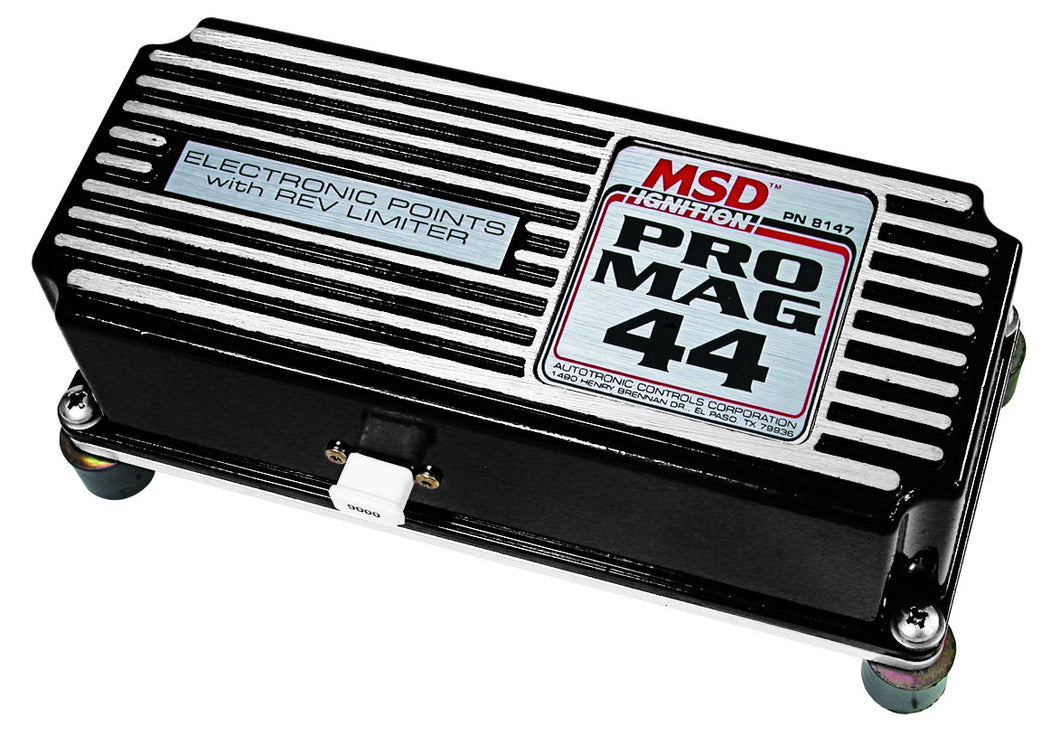 MSD Pro Mag 44 Amp Electronic Points Box With Rev Limiter, Black