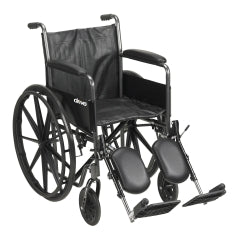 Wheelchair McKesson Composite Black 18 Inch 300 lbs.