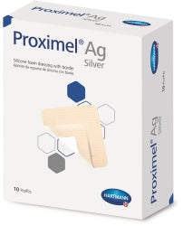 Foam Dressing with Silver Proximel® Border Ag 3 X 3 Inch Square Sterile (box)