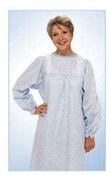Patient Exam Gown Lady Lace™ One Size Fits Most Female Yellow Floral Print