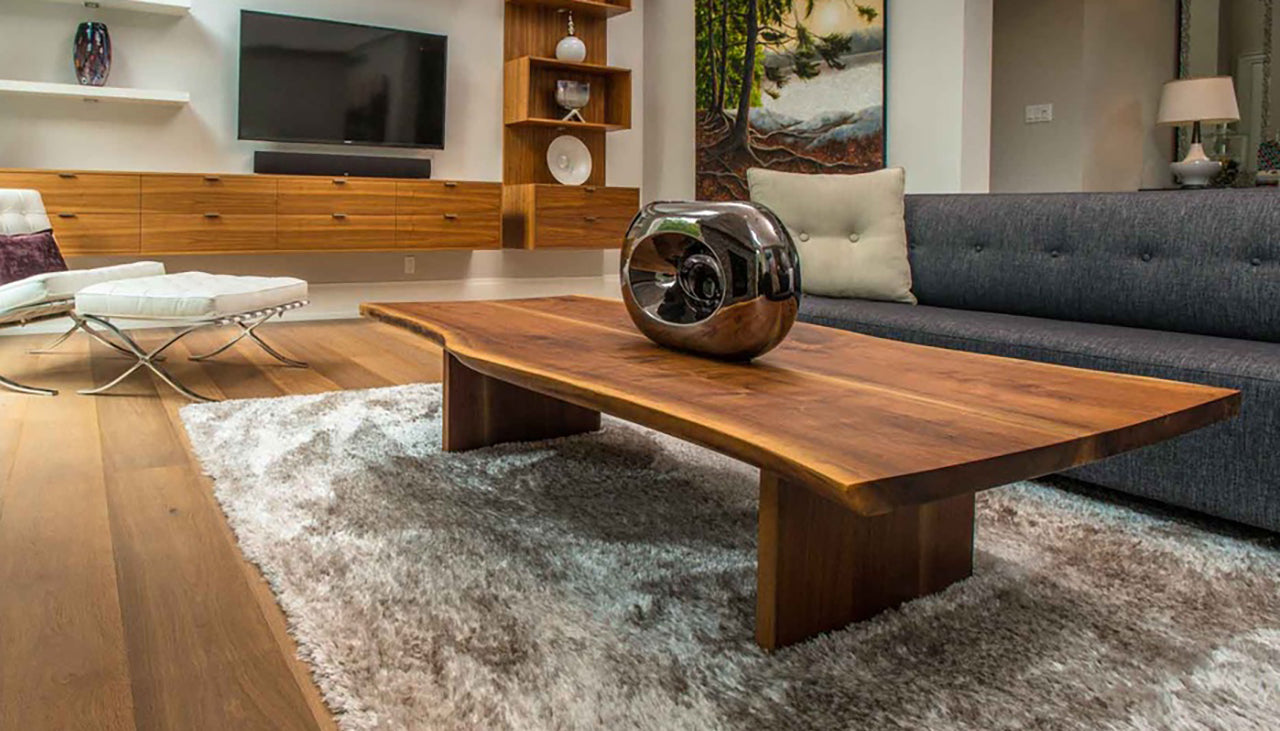 Organic live edge coffee table