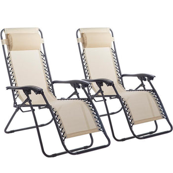 New Zero Gravity Chairs Case Of 2 Lounge Patio