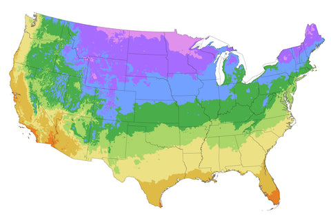 USDA Hardiness Zone Map (Garden Delivery / Mail Order Garden Center and Nursery / Buy Best Plants Online)