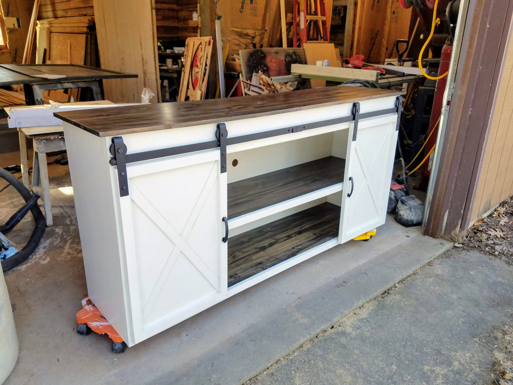 Custom Built Sliding Door TV Console
