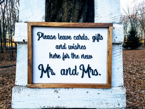 RENT - Farmhouse Wedding Gift Table Sign | Wedding Gift Table Decoration