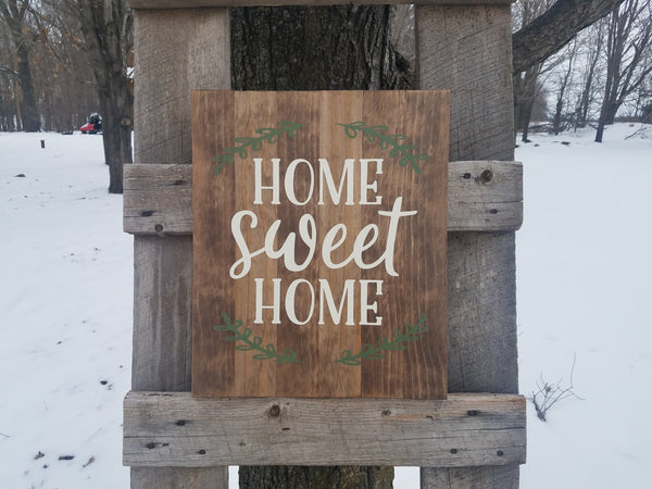 Home Sweet Home Painted Farmhouse Sign | Painted Wood Sign