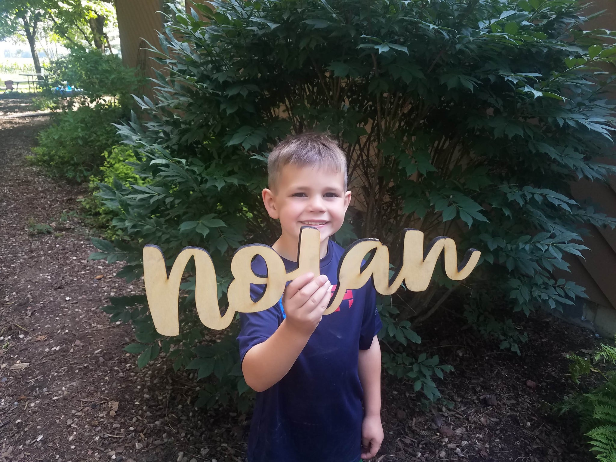 "1/2"" Thick Custom Wood Cutout Name Sign"