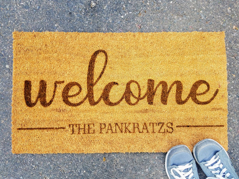 Personalized Welcome Door Mat