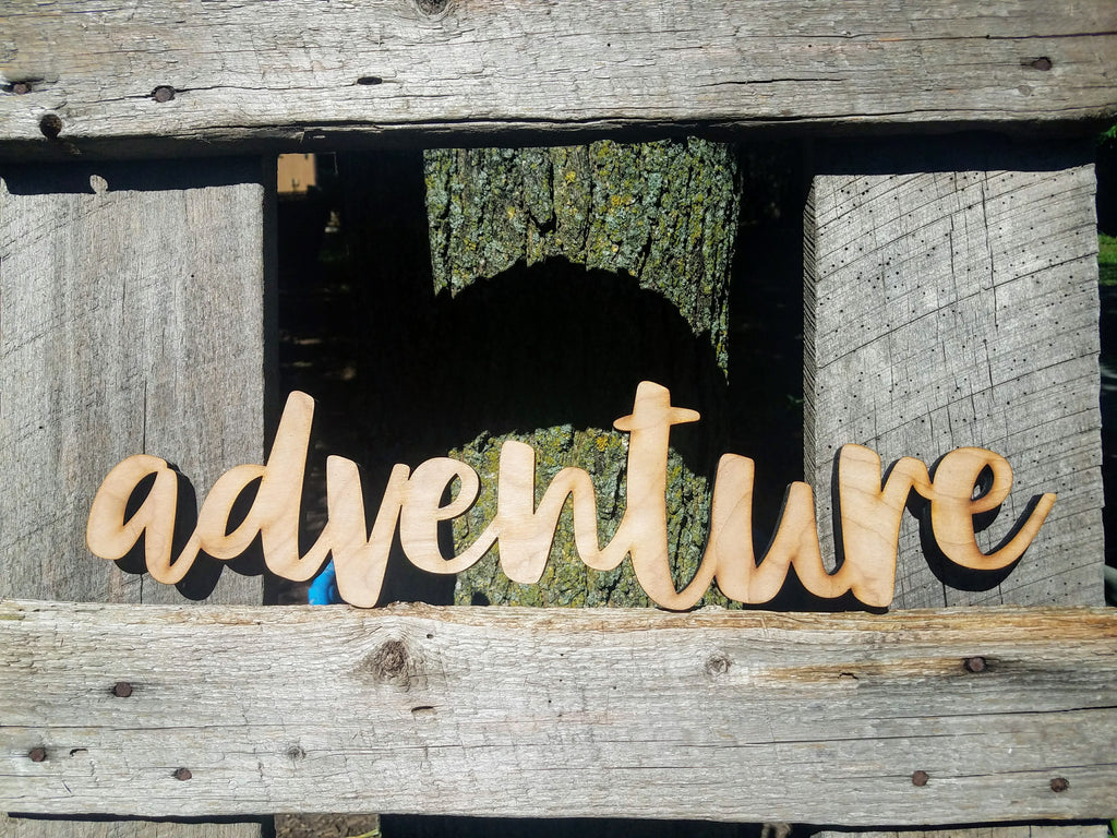 Adventure Wood Cutout