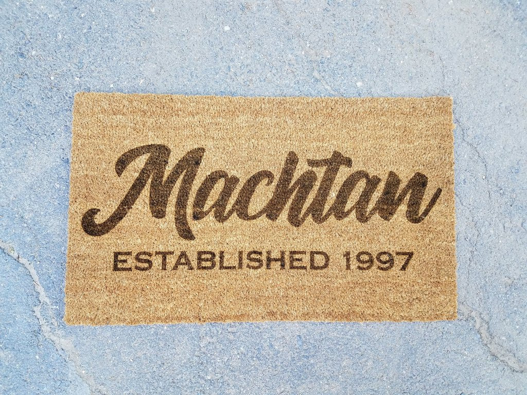 Personalized Last Name Established Door Mat