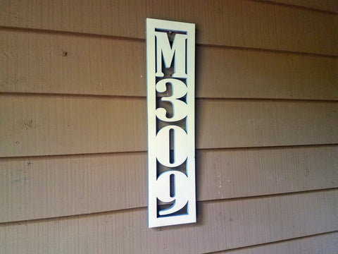 Custom Wood House Number Cutout