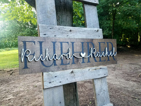 Personalized Established Laser Cut Sign