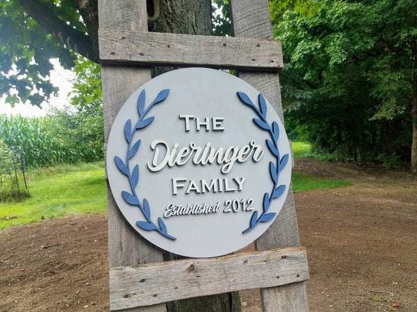 Personalized Established Last Name Laser Cut Sign