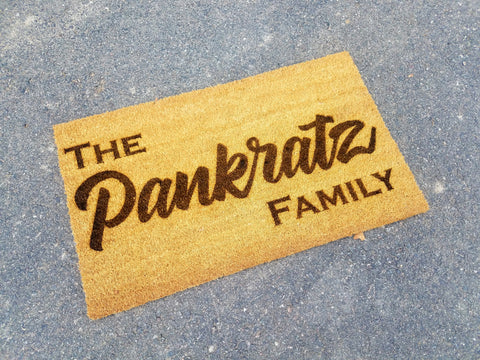 Personalized Last Name Family Door Mat
