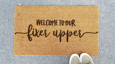 Welcome to our Fixer Upper | Coir Door Mat