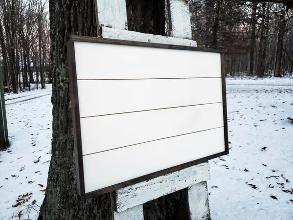 DIY Framed Shiplap Sign | DIY Sign