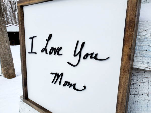 Custom Handwriting Sign | Raised Lettering | Personalized Handwritten Sign