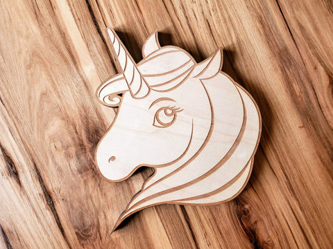 DIY Unicorn Wood Cutout Paint Kit | Unicorn Paint Kit | Kids Paint Kit