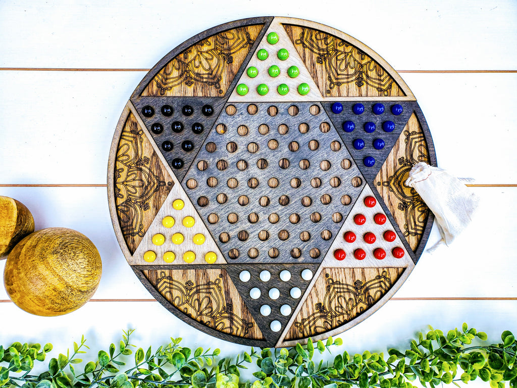 Chinese Checkers Board with Marbles | Fun Gifts | Board Games