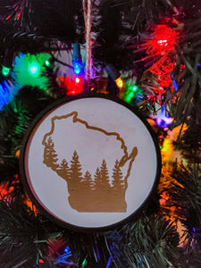 Wisconsin Christmas Ornament | Wisconsin Northern Woods