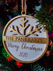 Farmhouse Christmas Ornament | Yearly Family Ornament