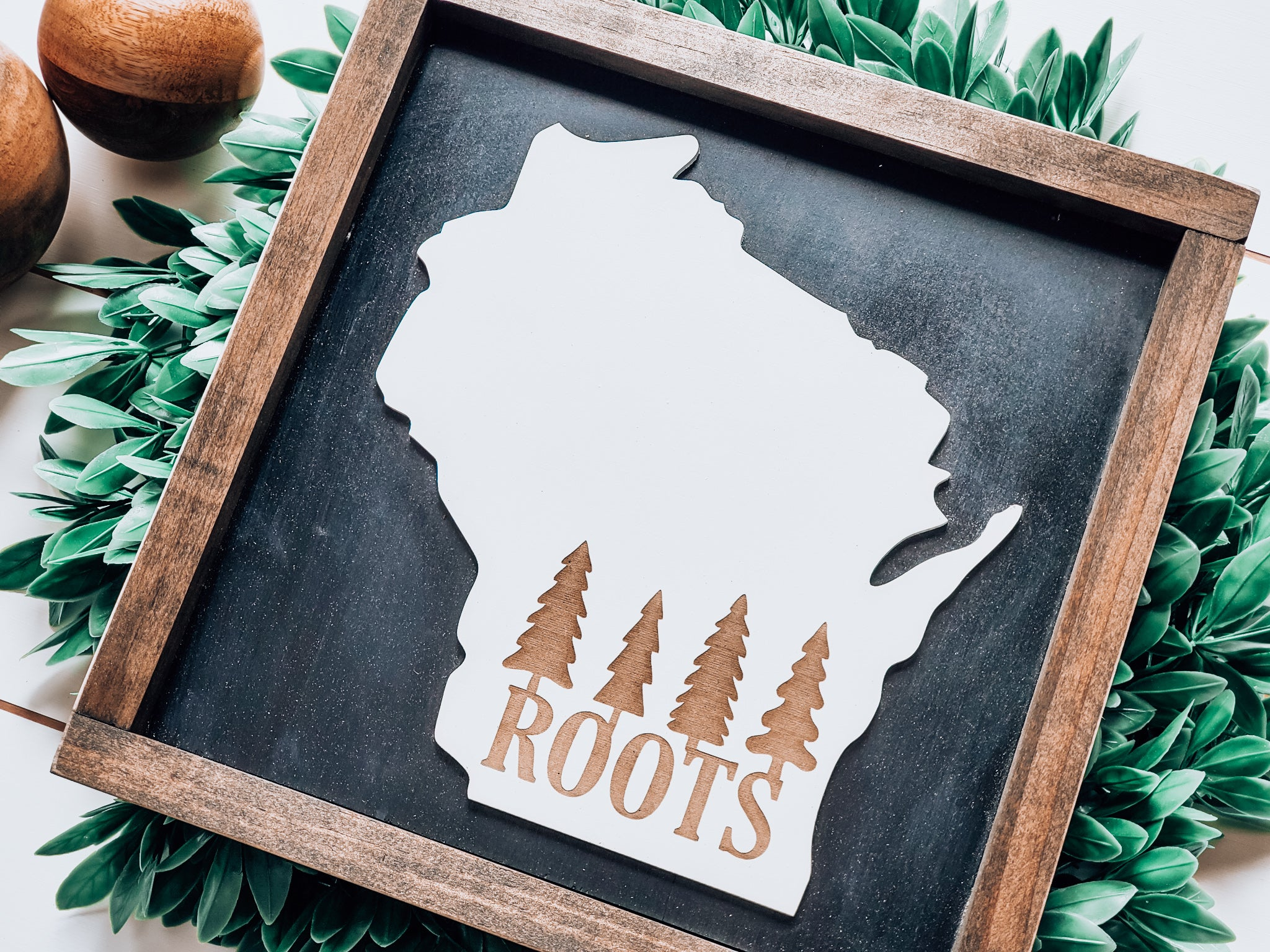 Wisconsin Roots Sign with 3D Cutout
