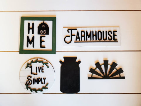 Tiered Tray Decor Farmhouse | Tiered Tray Decor | Tiered Tray Decor Bundle | Tiered Tray Signs | Tiered Tray DIY Kit