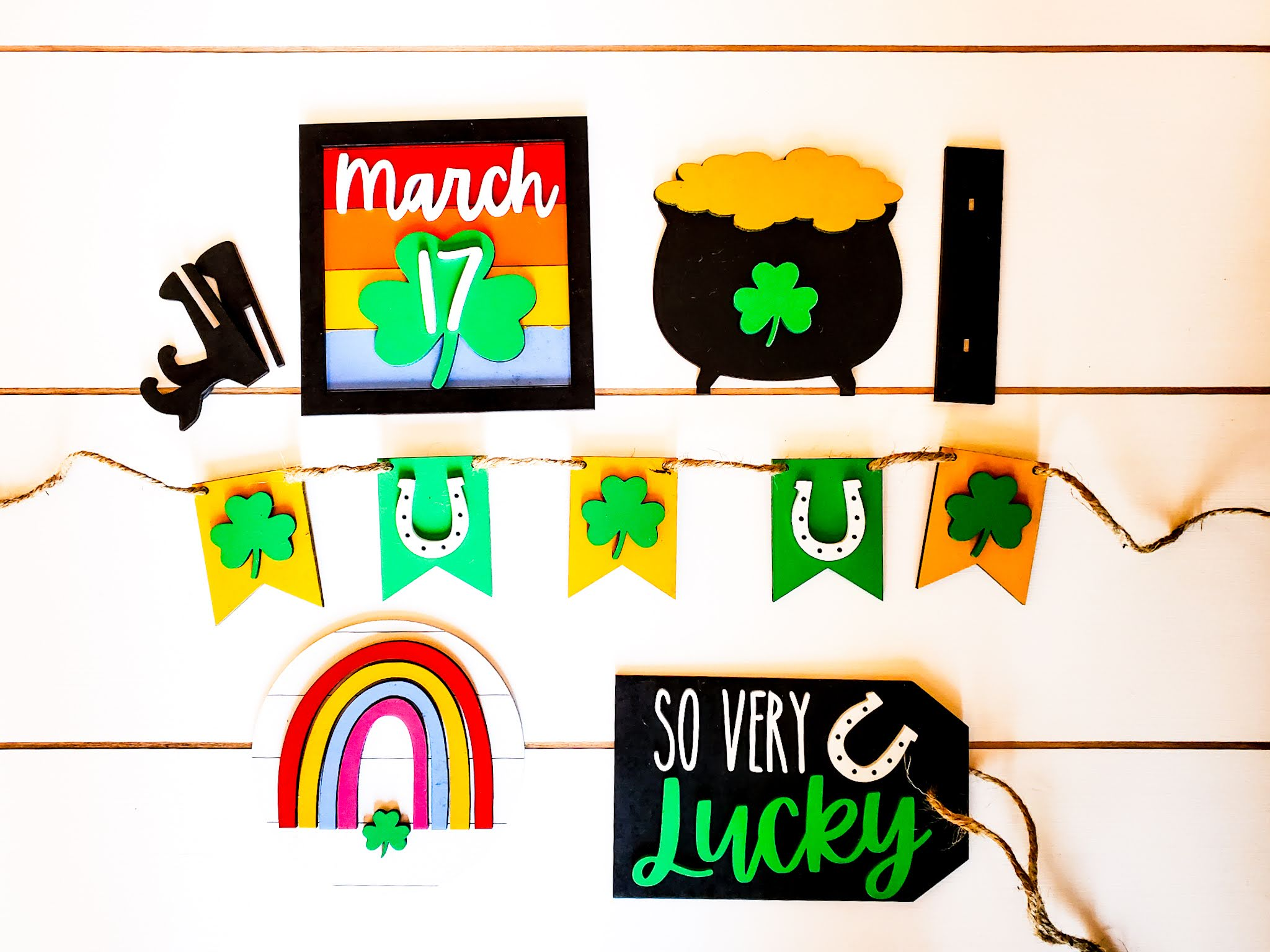 St. Patrick's Day Tiered Tray Decor | St. Patty's Day Tiered Tray Decor | Tiered Tray Decor Bundle | Tiered Tray Signs | Tiered Tray DIY Kit