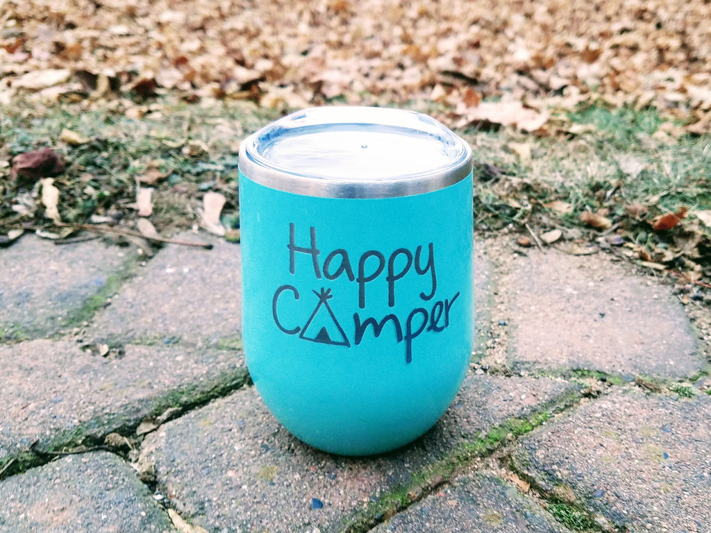 Happy Camper Personalized Yeti Mug - Custom Mug Engraving