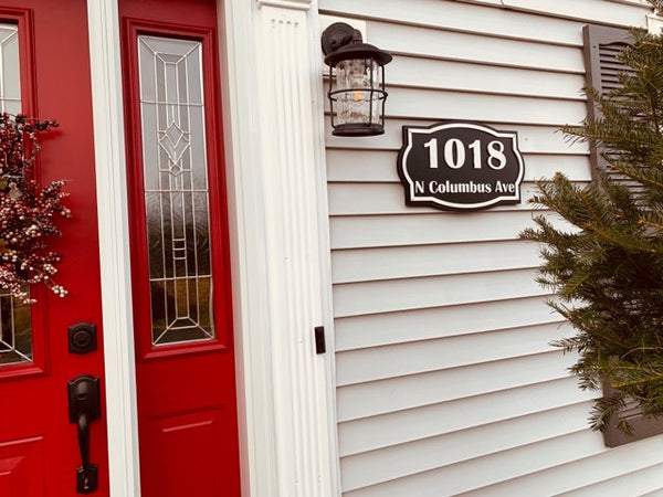 Custom Wood House Number and Street Name | Raised Lettering Sign | Unique Address Sign