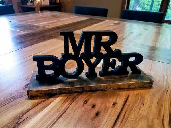 Personalized Desk Name Plate | Teacher Gift