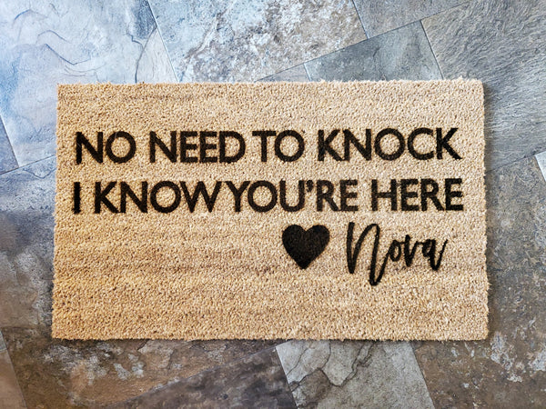 No Need to Knock - Dogs Know You're Here | Funny Coir Door Mat
