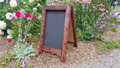 Double Sided Rustic Chalkboard Easel for Country Wedding