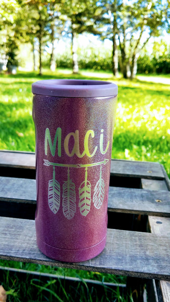 Personalized Engraved Slim Can Insulated Canister - Brumate