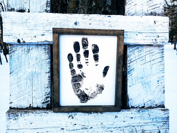 Custom Handprint Engraved Sign