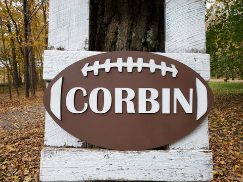 Personalized 3D Cutout Sports Decor Sign with Child's Name