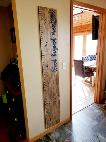 Children & Family Growth Chart Ruler - Measuring Stick