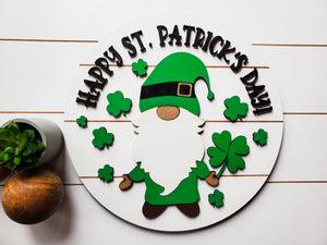St. Patrick's Day Sign | Raised Farmhouse Sign | St. Patty's Day Decor | Round Sign