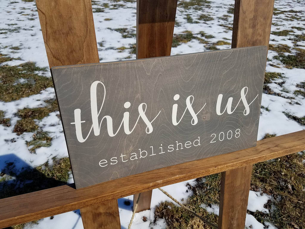 Personalized This Is Us Sign Family Established Sign | Painted Wood Sign