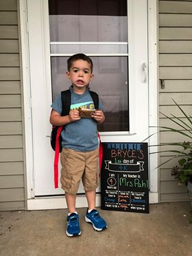 First Day of School Personalized Chalkboard Sign