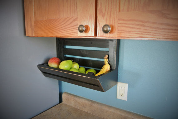 Under Cabinet Hanging Farmhouse Fruit Basket