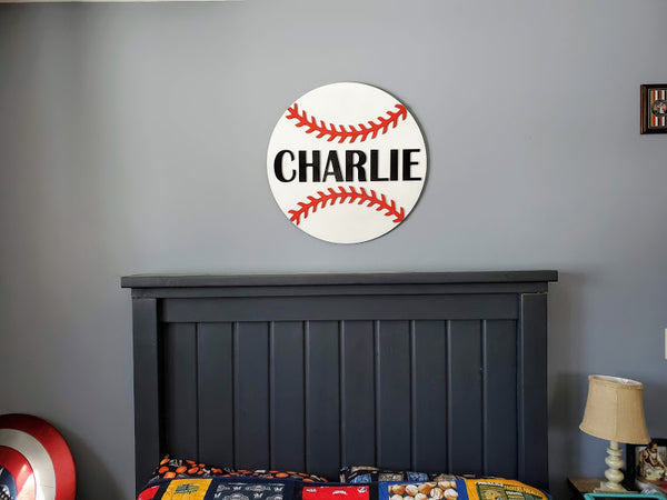 Personalized 3D Cutout Sports Decor Sign with Child's Name | Sports Medal Display