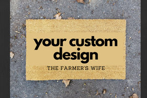 Custom Design Coir Door Mat