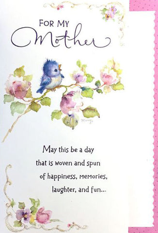 Mary Hamilton Bird vintage mother's day card hallmark