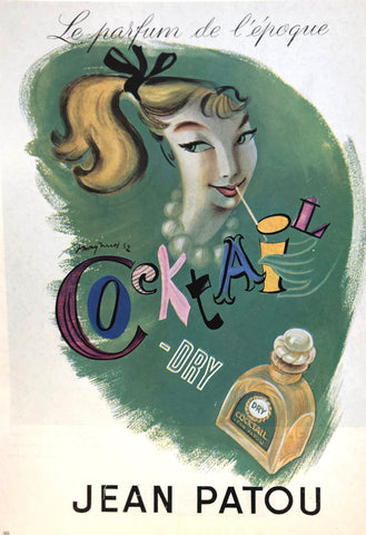 1950s Ad by Guy Maynard for Cocktail-Dry by Jean Patou in the New York Public Library Picture Collection