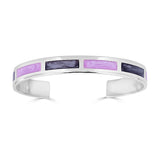 Silver Multi-color Cuff Bracelet