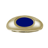 navy blue enamel gold signet ring