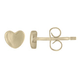 "Small ""Baby Heart"" Earring in Sterling Silver or 14K Gold"
